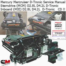 Mercury Mercruiser D-Tronic D 2.8L D 4.2L Diesel InLine Factory Service Manual