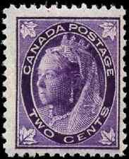 Canada #68 mint F-VF OG NH 1897 Queen Victoria 2c purple Maple Leaf CV$140.00