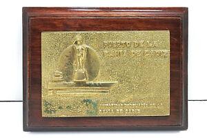 """Vintage Antique Wooden Plaque & Sign """"Puerto De La Bahia"""" For Decoration"""