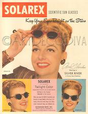 VTG 1940's Anne Sheridan Movie Star SOLAREX Sun Glasses Retro Silver River AD
