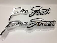 PRO STREET Vintage Style stud Mount Emblem Pair Street Rod Race Gasser Drag Car