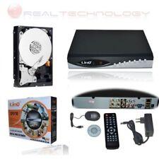 DVR 4 CANALI CON HARD DISK DA 1TB REGISTRATORE CONTROLLO WEB DDNS USB /LAN/VGA
