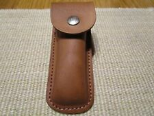 SCHRADE KNIFE SHEATH ONLY BROWN LEATHER