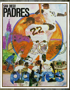 1970 Vintage MLB San Diego Padres REPRINT Poster Picture Color 8 X 10 Photo