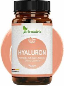 Hyaluron Komplex mit Biotin Niacon Zink Calcium  500mg hochdosiert 90 Tabletten
