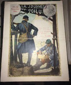 MENU DE LA JOURNÉE DU POILU.25-26 DÉCEMBRE 1915.