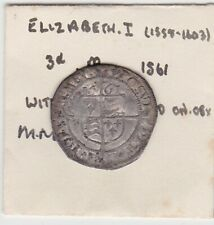 More details for 1561 elizabeth i silver threepence coin pheon mint mark in good fine condition