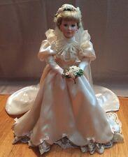 """ASHTON-DRAKE GALLERIES 1995~LISA~PORCELAIN BRIDE DOLL~19"""" TALL"""