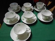 "Great Collectible KUTSCHENREUTHER Selb DRESDEN ""Innsbruck""7 CUPS & SAUCERS"
