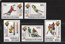 IVORY COAST - 600-604 - MH - 1981 - ESPANA WORLD CUP SOCCER CHAMPIONSHIPS
