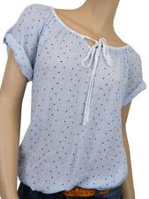 Locker sitzende Damenblusen, - tops & -shirts mit Rundhals-Ausschnitt und Sterne