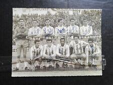 Foto de fútbol RCD Español 1961 firmada a mano  plantilla Héctor Rial
