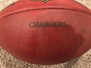 """NFL Wilson Game Used Football """"The Duke"""" - Chargers"""