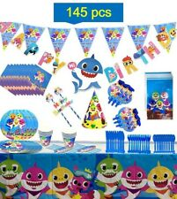 baby party supplies set, 145 pcs birthday decorations kit / tableware.