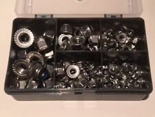 Stainless Steel Serrated Flange Nyloc Nuts Box Qty 140 DIN.6926 M4 M5 M6 M8 M10