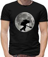 Bass Player Moon - Mens T-Shirt - Guitar - Guitarist - Bassist