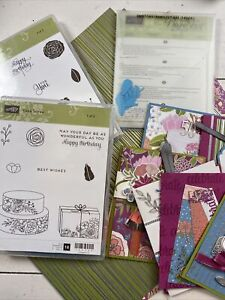Stampin' Up! CAKE SOIREE stamps, SWEET CAKE Framelits Dies, Paper & Lots of card