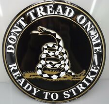 """DONT TREAD ON ME, READY TO STRIKE  METAL SIGN 12"""" BRAND NEW SNAKE"""