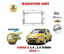 FOR OPEL VAUXHALL CORSA E 1.4 + TURBO 2014--> NEW RADIATOR UNIT