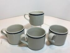 Set of 4 Dansk Bistro Christianshavn Blue Flat Coffee/Tea Mugs FREE SHIPPING