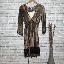 New York & Company Snakeprint Wrap Dress Women's Size Medium