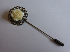 Handcrafted Antique Bronze Hijaab (Hijab) Pin with Rose detail