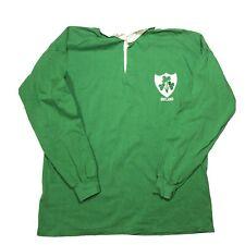 Vintage Umbro Ireland Irish Rugby Jersey Mens Large Long Sleeve Knit Sweater