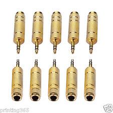10x 3,5mm Klinken-Stecker  zu  6,35mm Klinken-Buchse - Audio Adapter - Stereo