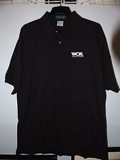 Men's WOR Radio 710 AM Black Polo Shirt X-Large Cotton Pique Sports Talk New XL