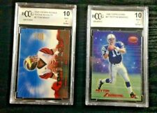2000 CROWN ROYALE TOM BRADY RC #2~1998 TOPPS STARS PEYTON MANNING #67~BCCG 10 MT