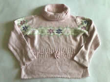 Gymboree Girls 5 Winter Princess Fair Isle Pink Snowflake Sweater Sequin Top L/S