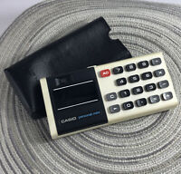 Vintage Casio Personal Mini Calculator with Case Tested Made In Japan