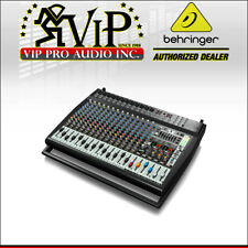 Behringer PMP6000 Active 20-Chan Powered Mixer Board 1600W Amplified w/ Effects