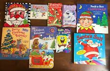 Lot 10 Kids CHRISTMAS Themed Board Books Santa Frosty Snowman Rudolph Rugrats