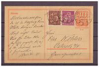 Deutsches Reich, Ganzsache P 141 + ZuF Nordhausen nach Osterode 03.04.1922