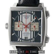 Tag Heuer Monaco Steve McQueen Calibre 11 Chrono Blue Dial CAW211D.FC6300 B+P