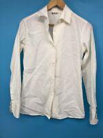Loro Piana Womens Top Button Up White Shirt Long Sleeve Size 40 US S