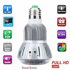 HD 1080P Hidden Wifi Camera E27 LED Lamp Bulb Security Camcorder Motion Detector