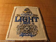 Vintage SCHLITZ LIGHT BEER Advertising Dealer Embroidered Cloth Patch