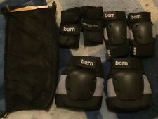Imperfect Bern Jr Pad Set- Knee Elbow Wrist Gray & Black Size Junior pm8