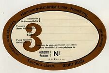 HAPAG Hamburg-Amerika Linie / Dritte Klasse * Old Luggage Label Kofferaufkleber