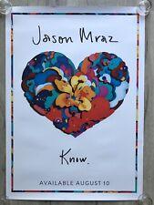 JASON MRAZ - PROMO POSTER - KNOW (tickets amsterdam vinyl 2 lp cd tour deluxe)