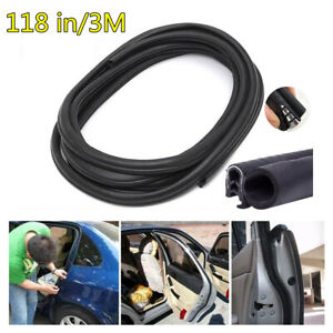 3M Rubber&Steel Seal Strip Car Door Trim Edge Moulding Weatherstrip Universal