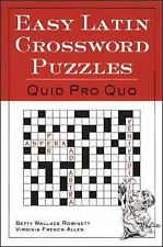 Easy Latin Crossword Puzzles: Quid Pro Quo, , Robinette, Betty Wallace / Allen,