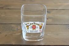 Vintage Jim Beam Bourbon Whiskey Glass Poker