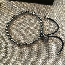Michael Kors Silver Tiny Beads Tone Stretch Women's Bracelet
