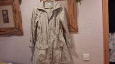 Rossetti Ivory Beige Light Weight Rain Jacket Coat With Hood Size 10