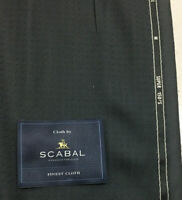 3.5 Metres Dark Grey Motif Super 150s 100% Wool Suit Fabric. By Scabal