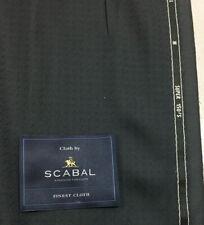 3.5 Metres Dark Grey Motif Super 150s 100% Wool Suit Fabric. By Scabal