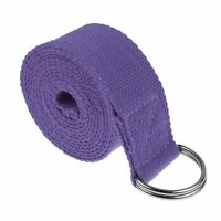 Yoga Straps Entry Level Beginners Durable Cotton Stretching Holding Poses Purple